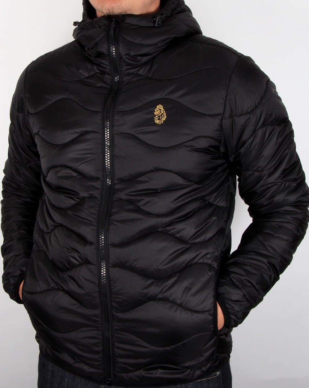 Luke Rubery Quilted Jacket Black Men S Coat Puffer Puffa