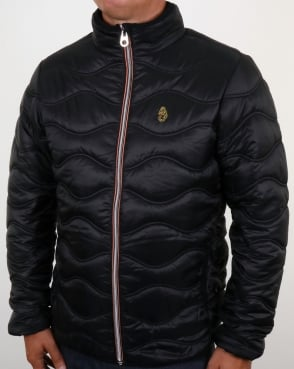 Luke Ruby Quilted Jacket Black