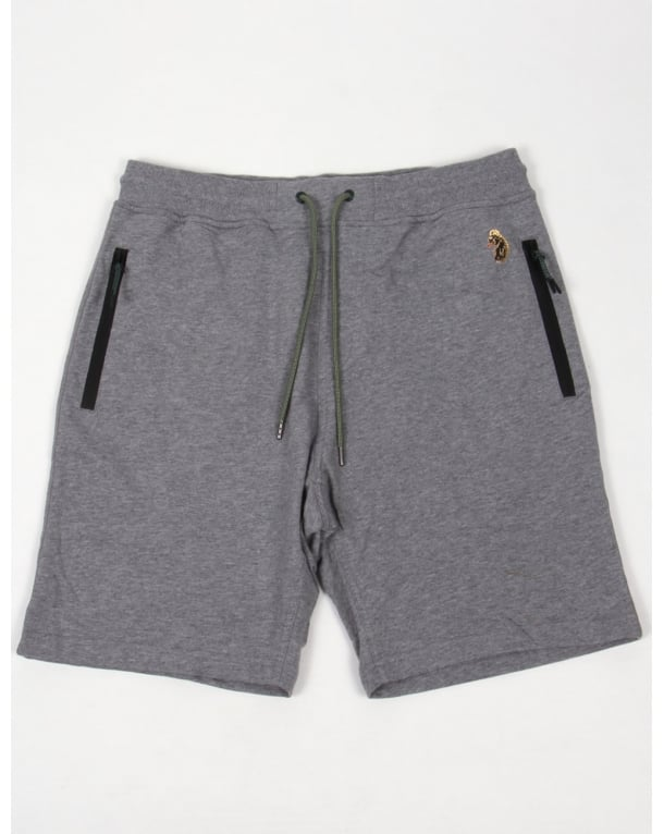 Luke Silver Jogger Shorts Light Grey Marl