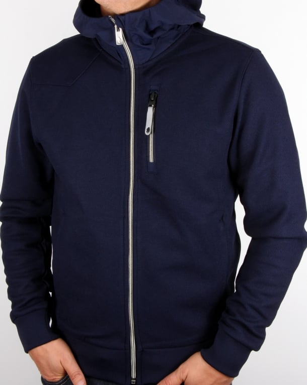Luke Solid Ground Hoodie Navy