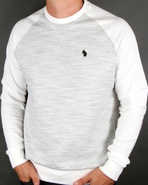 Luke Spaced Guy Mixed Fabric Sweatshirt Mid Marl Grey