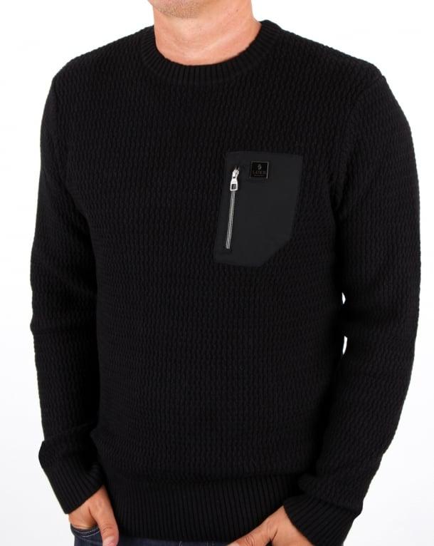 Luke Terrytenmen Textured Knit Black