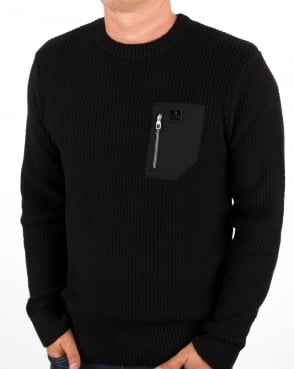 Luke Terrytenmen Textured Knit Black