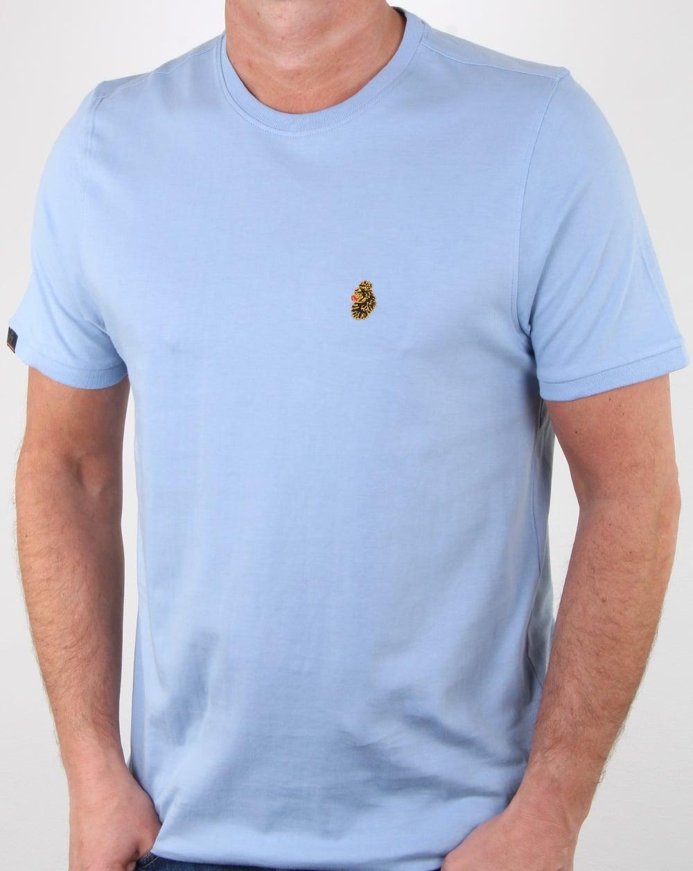 c10f819a Luke Traff T Shirt Sky Blue, Mens, Tee, Crew Neck, Cotton
