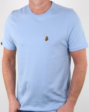 Luke Traff T Shirt Sky Blue