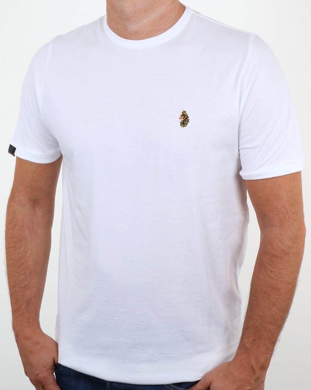 c0bb222b Luke Traff T Shirt White,tee,logo,crew neck,cotton,mens