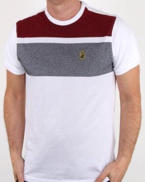Luke Warnock Block Stripe T Shirt White