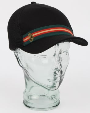 Luke White Line Trucker Cap Black