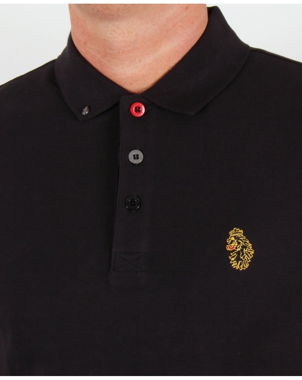 Luke Williams Polo Shirt Blackcottonmenssmart Smith Black