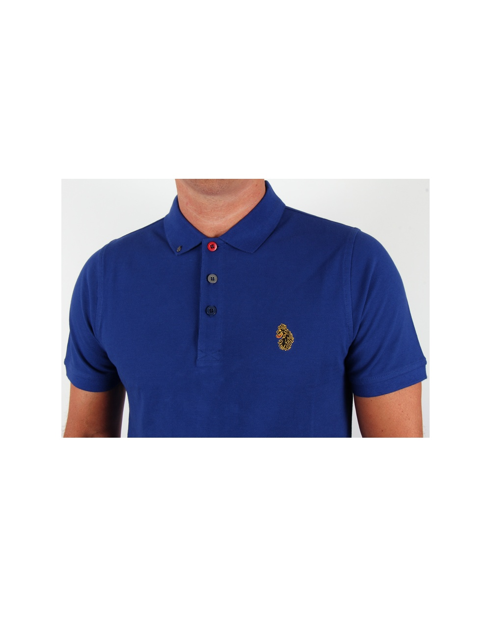 Luke williams polo shirt blue luke 1977 polo shirt mens for Luke donald polo shirts