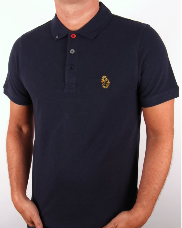 Luke williams polo shirt dark navy luke 1977 polo shirt for Luke donald polo shirts