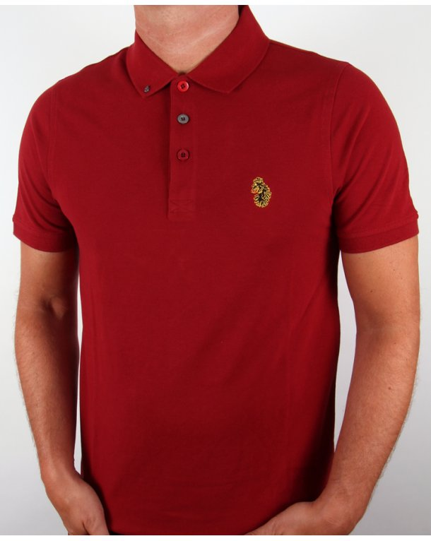 Luke Williams Polo Shirt Deep Red