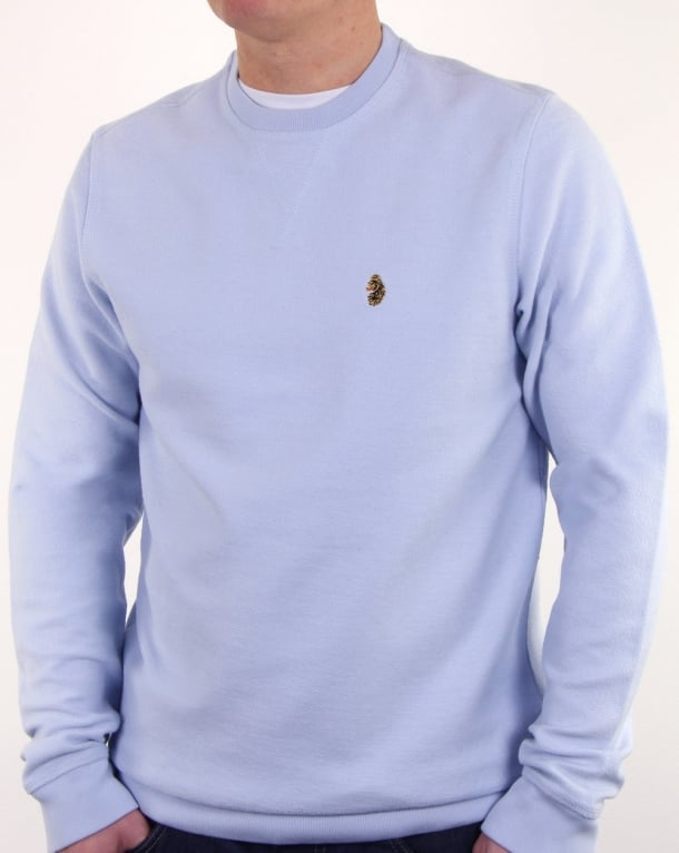 Luke Winner Crew Sweat Sky Blue