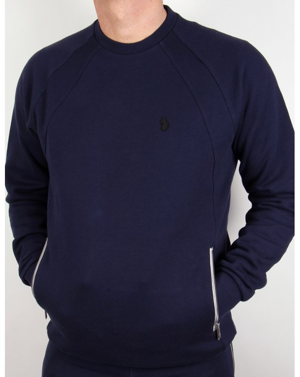 Luke Zig Sweatshirt Navy Blue