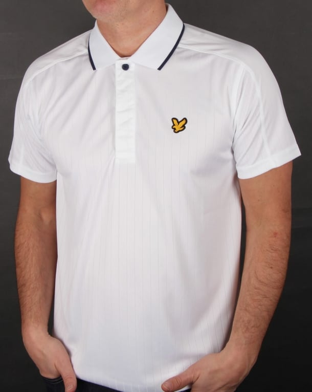 Lyle And Scott Active Banks Polo Shirt White
