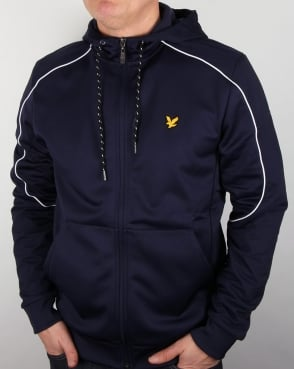 Lyle And Scott Active Hurst Hooded Track Jacket Navy