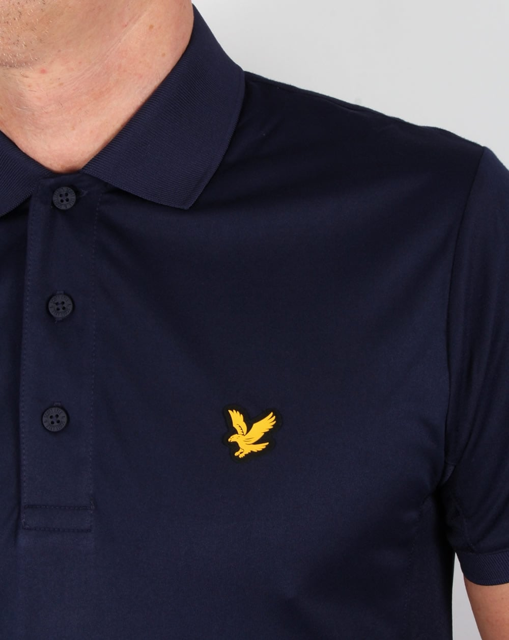 lyle and scott fitness pascoe polo shirt navy leisure sports gym mens. Black Bedroom Furniture Sets. Home Design Ideas