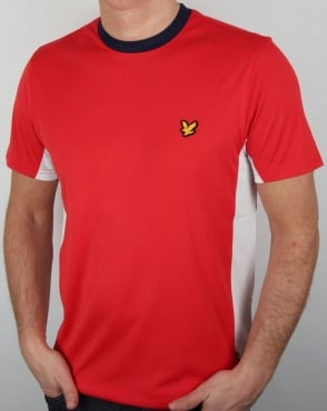 Lyle And Scott Active Peters T Shirt Red/White