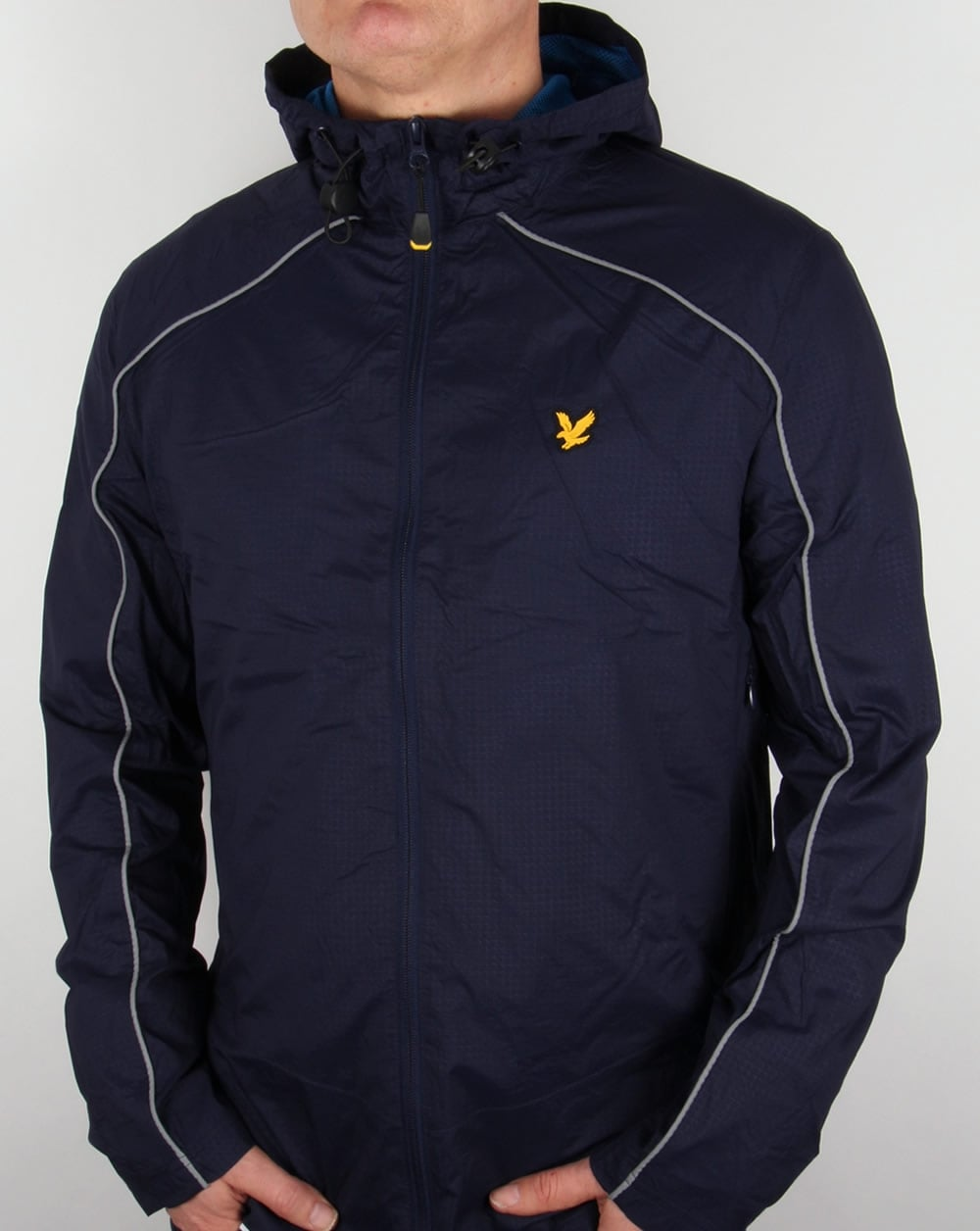 lyle and scott fitness stewart hooded jacket navy track. Black Bedroom Furniture Sets. Home Design Ideas