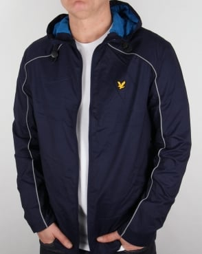 Lyle And Scott Active Stewart Hooded Jacket Navy