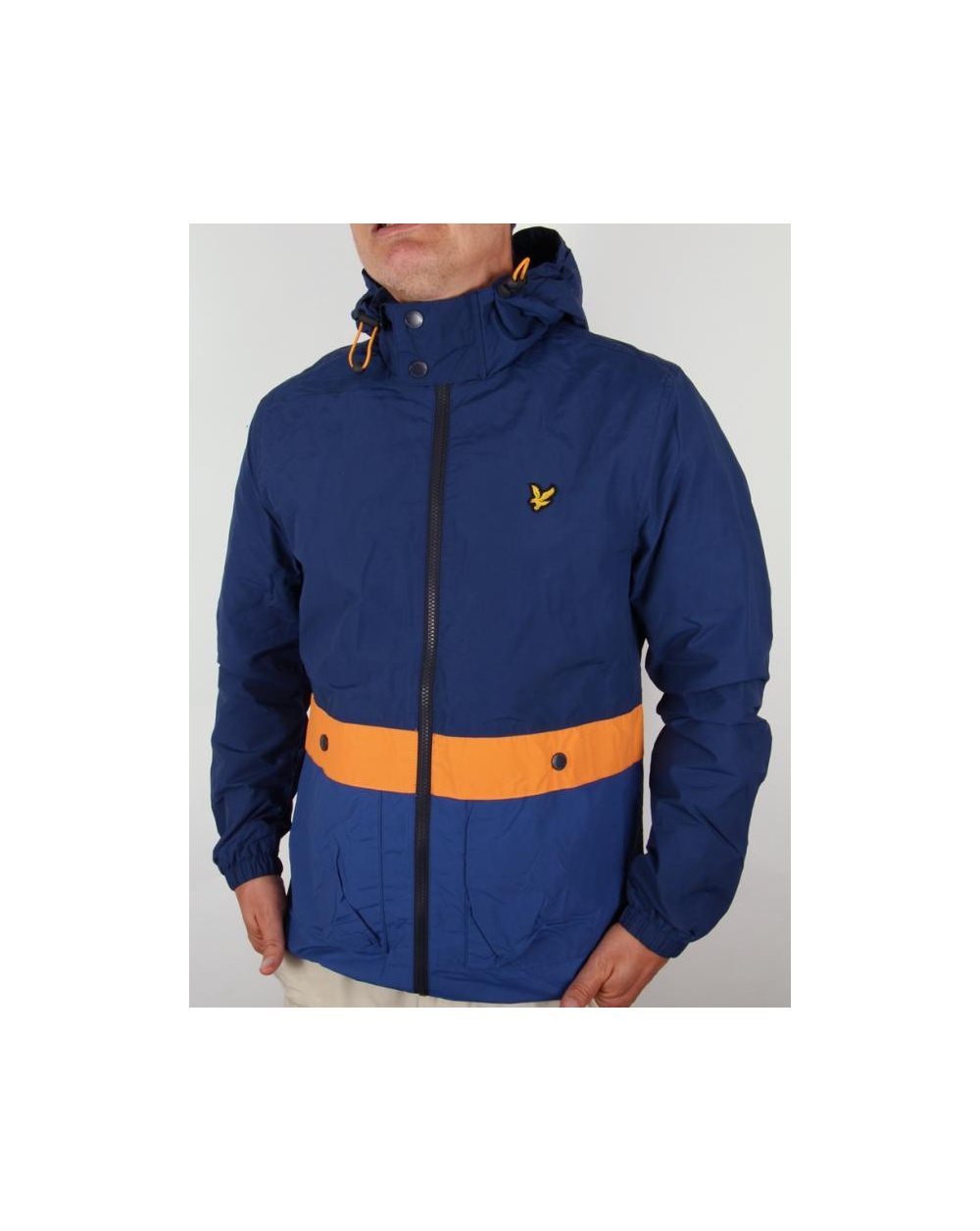 lyle and scott archive striped jacket admiral blue lyle and scott from 80s casual classics uk. Black Bedroom Furniture Sets. Home Design Ideas