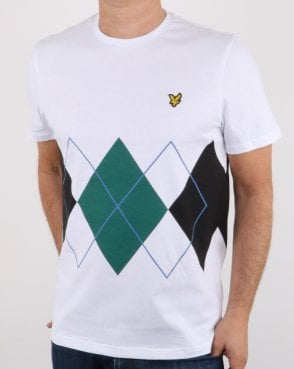 Lyle And Scott Argyle T-shirt White
