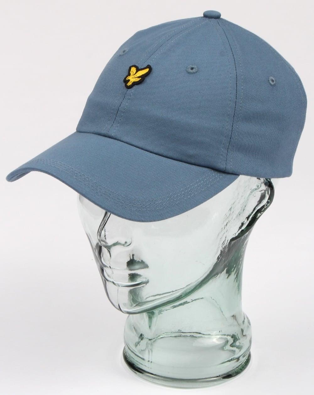 3caf68052e66 Lyle And Scott Baseball Cap Mist Blue, Mens, Hat, Cotton, Adjustable