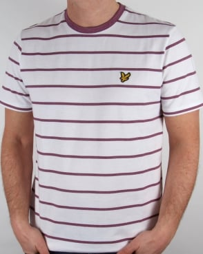 Lyle And Scott Birdseye Stripe T-shirt White