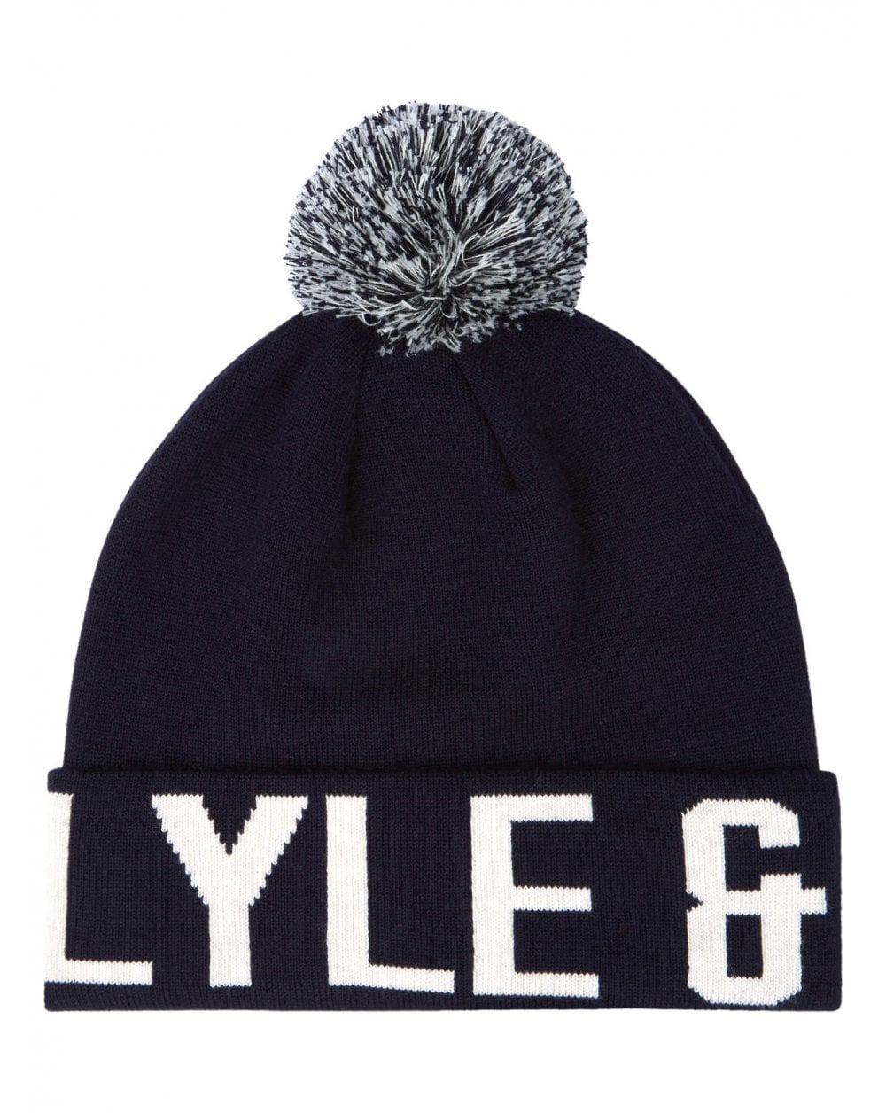 06a3ae5261c Lyle and Scott Lyle And Scott Block Logo Bobble Hat Navy