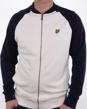 Lyle And Scott Bomber Sweatshirt Seashell White