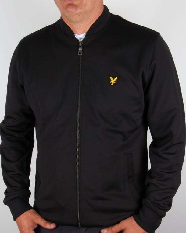 Lyle And Scott Bomber Track Top Black