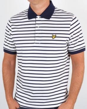 Lyle And Scott Breton Stripe Polo Shirt Off White
