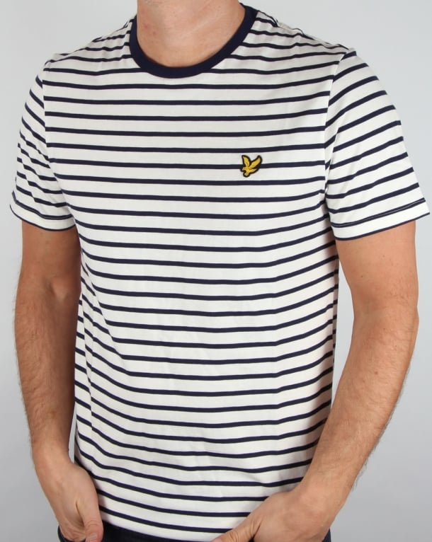Lyle and Scott Breton Stripe T-shirt Off White