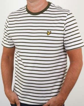 Lyle And Scott Breton Stripe T-shirt Olive