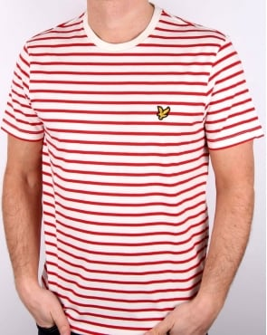 Lyle And Scott Breton Stripe T-shirt Racing Red