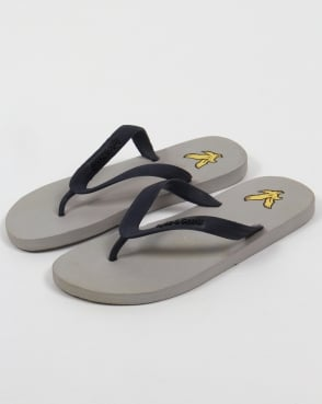 Lyle And Scott Brora Flip Flop Aluminium Grey