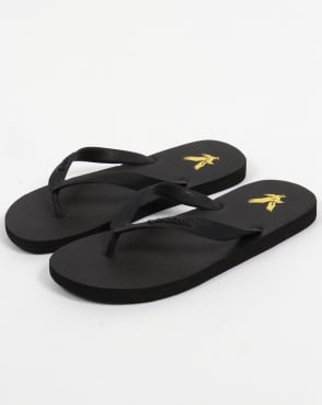 Lyle And Scott Brora Flip Flops Black