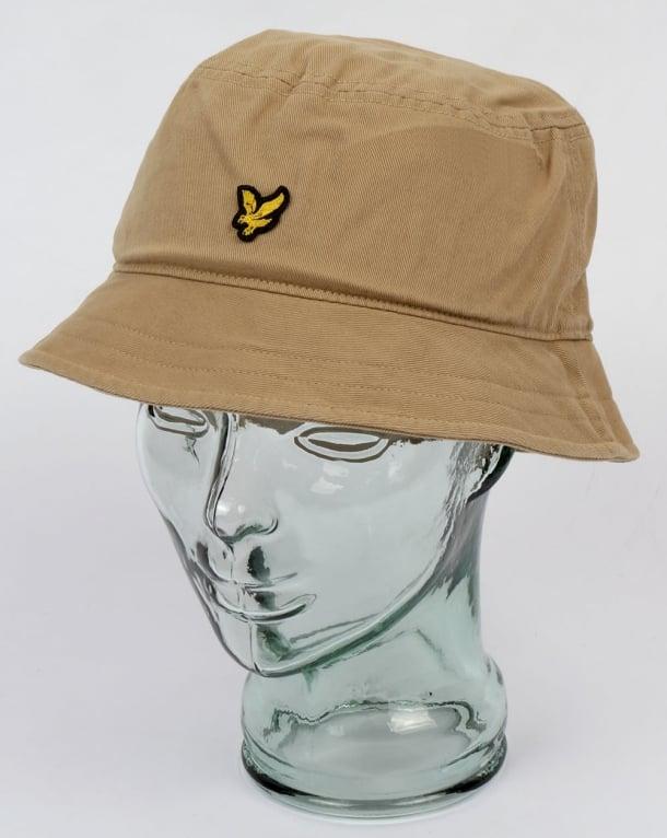 ... detailed look 10dad cf122 lyle and scott bucket hat dark sand uk ... bc075f25b821