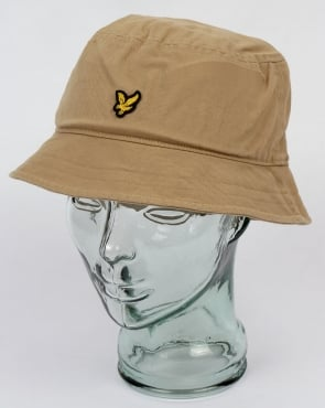 Lyle And Scott Bucket Hat Dark Sand
