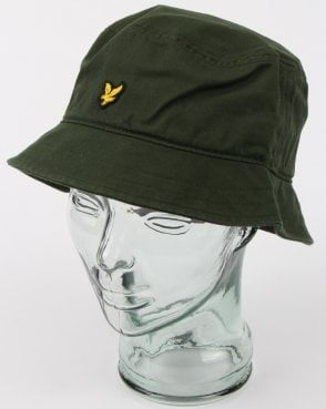 Lyle And Scott Bucket Hat Leaf Green