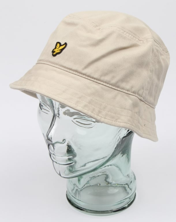 Lyle And Scott Bucket Hat Light Stone