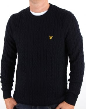 Lyle And Scott Cable Jumper Navy