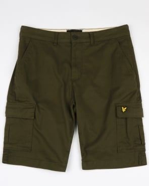 Lyle And Scott Cargo Shorts Dark Sage
