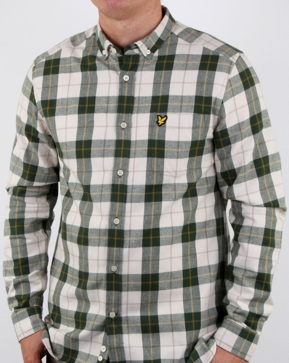 64ff4432768e Lyle And Scott Check Flannel Shirt Leaf Green