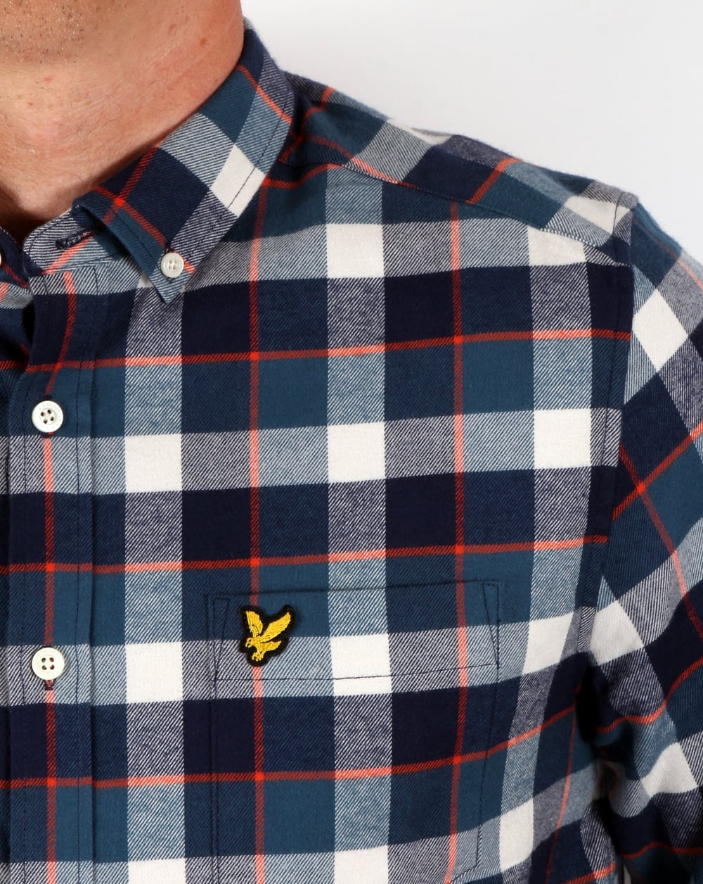 233bcc3781d3 Lyle And Scott Check Flannel Shirt Off White