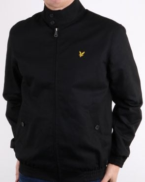 Lyle And Scott Check Lined Harrington Jacket Black