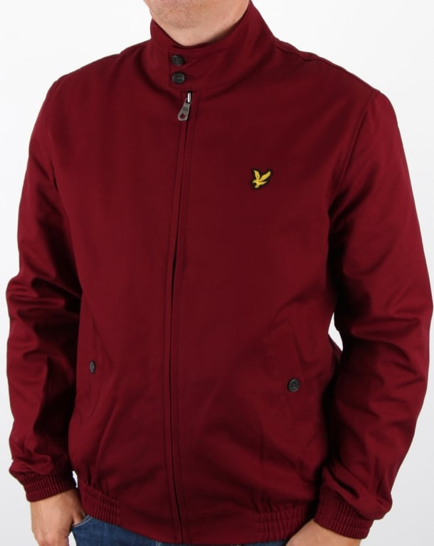 Lyle and Scott Check Lined Harrington Jacket Claret Jug