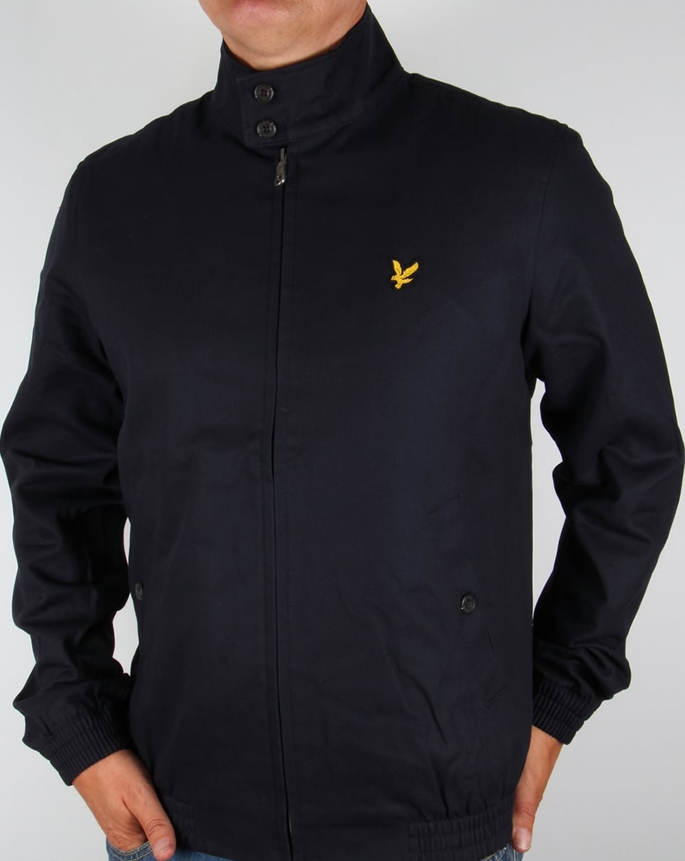lyle and scott check lined harrington jacket navy mens coat. Black Bedroom Furniture Sets. Home Design Ideas