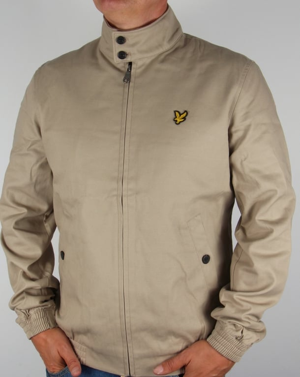 Lyle And Scott Check Lined Harrington Jacket Stone