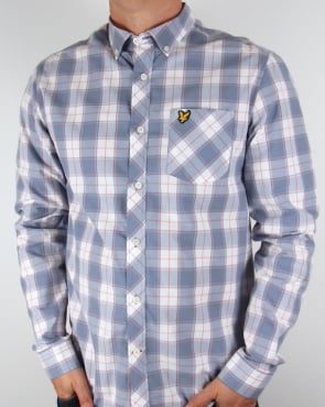 Lyle And Scott Check Shirt Dusk Blue